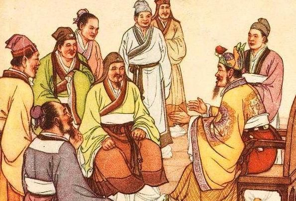朱元璋请大臣吃饭,菜上齐后大家都在猛吃,唯独刘伯温满头冷汗